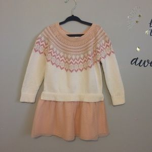 Baby Gap Pink Sweater Dress Tulle Skirt Size 3